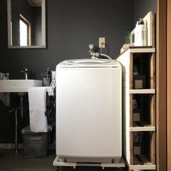 山崎実業/便利/シンプル/スタイリッシュ/ハンガー収納/洗濯機収納/... こんばんは😊 お風呂のリフォームをしてか…(3枚目)