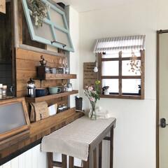春の花/窓枠DIY/花のある暮らし/ダイニング/キッチン/雑貨/... こんにちは・:*+.✳︎  昨日、お花屋…