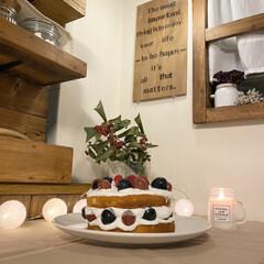 カフェ風インテリア/クリスマスケーキ/クリスマス/クイジナートのある暮らし/クイジナートLOVE/クイジナート/... こんばんは✨  久しぶりの投稿になってし…