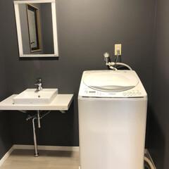 掃除がラク/キャスター付き/洗濯機置き台/シンプルインテリア/インテリア/洗面所リフォーム/... こんばんは😊 今週は、我が家のお風呂と洗…