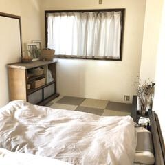 リメイク/パレットベッド/寝室/棚/和室/DIY/... こんばんは˚✧₊⁎⭐︎  久しぶりの和室…(4枚目)