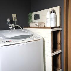 山崎実業/便利/シンプル/スタイリッシュ/ハンガー収納/洗濯機収納/... こんばんは😊 お風呂のリフォームをしてか…