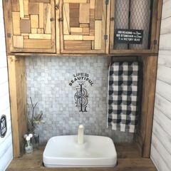 セルフリノベーション/男前インテリア/トイレインテリア/タンクレス風トイレ/トイレタンク隠し/トイレ/... こんばんは😊 トイレのpicで、失礼しま…