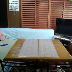 テーブル/秋の果物/りんご/我が家のテーブル 今テーブルの上からとてもいい匂い りんご…