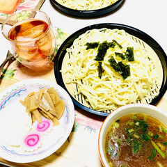 シリコン製ポーチドエッグ/メンマ/ポーチドエッグ/つけ麺/夕食 こんばんは🌠  今夜はつけ麺😁☝🏻⭐️ …(4枚目)