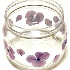 紫陽花ドライ/初デコパージュ こちらは、紫陽花のドライフラワーで プラ…