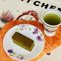 粉末茶/抹茶黒糖カステラ/手作りカステラ good morning🍵(3枚目)