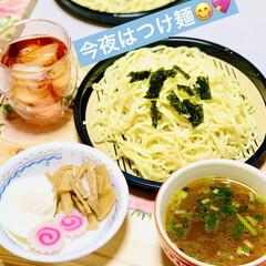 シリコン製ポーチドエッグ/メンマ/ポーチドエッグ/つけ麺/夕食 こんばんは🌠  今夜はつけ麺😁☝🏻⭐️ …(1枚目)
