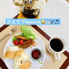 launch/かりん/手作りジャム/ご飯🍚パン🍞 MY launch🤗💖  早速 ご飯🍚パ…(4枚目)