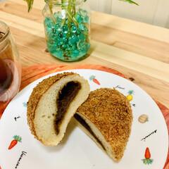 カレーパン/自家製天然酵母パン ヘルシー👩🍳 油で揚げないカレーパン …(3枚目)