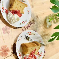 tea time☕️/シフォンケーキ 休憩Time😁✌🏻☕️  今日は、デコパ…(5枚目)