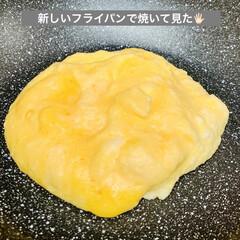 フライパン🍳/オール熱源対応/自家製天然酵母パン/グルメ/朝食/ポークウインナー/... 先程の投稿は、旦那様の朝食☕️  これは…(3枚目)