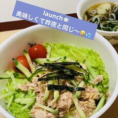 簡単飯/リクエスト/シーチキン/寿司飯/launch launch🍽  またまた昨夜と同じ〜😆…