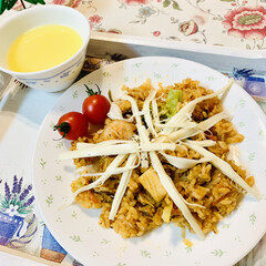 コストコ/ピリ辛ニンニクチャーハン/商品紹介/裂けるチーズ/launch 🍴ひとりlaunch😋🖐🏻  昨日コスト…(4枚目)