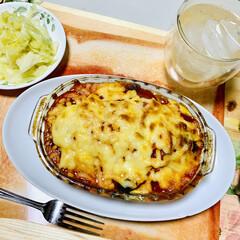 夕食/グルメ/茄子とトマトの重ね焼き いただきま〜す🤣🙌🏻💓(2枚目)
