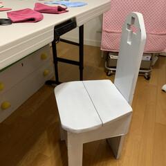 わたしの作業部屋/リメイク/椅子 昔 息子が、中学生の時に技術家庭で作った…