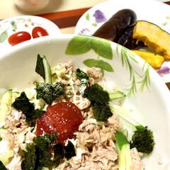 シーチキン寿司 台風の影響で蒸し蒸し😵💦 食欲もない😖💦…