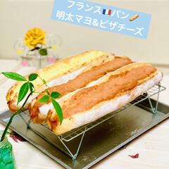 グルメ/launch/自家製天然酵母/手作りパン/フランスパン/ハンドメイド/... 自家製天然酵母 フランスパン🇫🇷🥖焼けま…(2枚目)