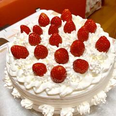 手作りケーキ/イチゴショートケーキ これぞ❣️ イチゴオンリー🎂🎂🎂(1枚目)