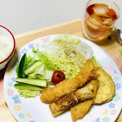 夕食/竹輪/さつま芋🍠/白身魚/エビフライ 今夜は揚げ物をしました😅💦  今日は、 …(4枚目)