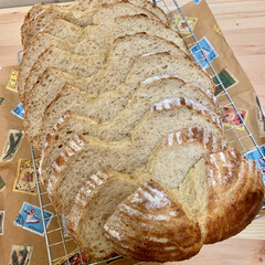 カンパーニュ/自家製天然酵母パン/うちの定番料理 ライ麦パンをカットしました💕💕 ライ麦の…
