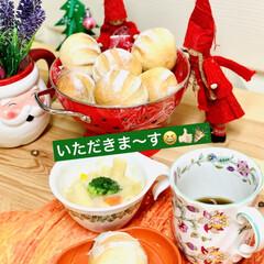 パーティーパン/グルメ/自家製天然酵母/クリスマス/Xmas🎄まん丸ミニパン/クリスマスツリー/... コロンと可愛いまん丸ミニパン🎄  残った…(5枚目)