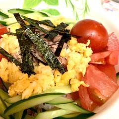 すし飯/自家製紅生姜/シーチキン/スタミナ丼/夏に向けて/スタミナご飯/... 今夜は、すし飯に自家製紅生姜を入れ シー…