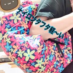 シュパット/エコバック/おしゃれ/夏ファッション ナイロンタフタ素材で作ってみたかった エ…