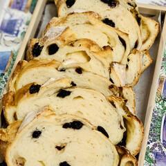 太麺/手作りパン/自家製天然酵母/グルメ/ブルーベリーフランス goodmorning🥖(3枚目)