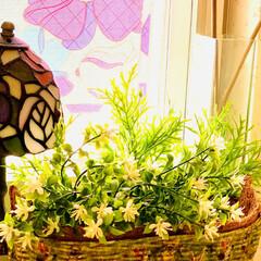 インテリア/ホームセンター/デコパージュ/花籠/ハンドメイド/手作り/... ハット形花籠デコパージュ  先週大型ホー…(8枚目)