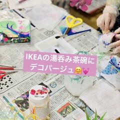 DIY/ものづくり/インテリア/キャンドゥ/デコパージュ/リメ鉢/... 今日は妹が神奈川から久々にやって来ました…(2枚目)