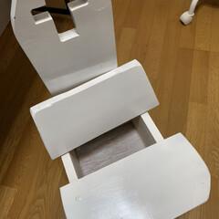 わたしの作業部屋/リメイク/椅子 昔 息子が、中学生の時に技術家庭で作った…(2枚目)