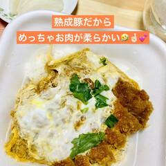 熟成豚/テイクアウト/カツ丼/かつや/夕食 今夜はかつやのカツ丼 テイクアウトでいた…(3枚目)