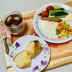 フランスパン/手作りパン/自家製天然酵母/launch 旦那様が夜勤明けなので 朝食兼launc…(2枚目)