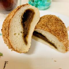 カレーパン/自家製天然酵母パン ヘルシー👩🍳 油で揚げないカレーパン …(2枚目)