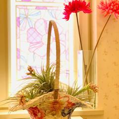 インテリア/ホームセンター/デコパージュ/花籠/ハンドメイド/手作り/... ハット形花籠デコパージュ  先週大型ホー…(3枚目)