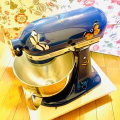 自家製天然酵母/仕込み/手作りパン/デコしてみたよ/スタンドミキサー/キッチンエイド/... キッチンエイドスタンドミキサーを 誕生日…(4枚目)