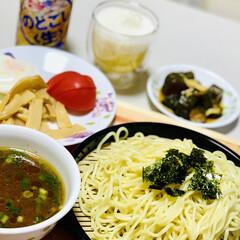 ビール/つけ麺 こんばんは〜🌆  今夜つけ麺🍻😆👍🏻(2枚目)