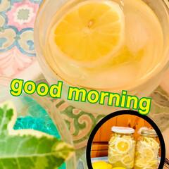 レモンスカッシュ🍋/レモンシロップ 🍋good morning🍋  先日作っ…