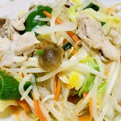 肉野菜炒め/夕食 こんばんは〜🌠  今夜は肉野菜炒め〜🎶🎵(3枚目)