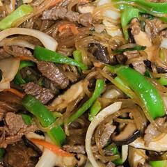 牛肉チャプチェ/おうちごはん/うちの定番料理 今夜は、 ご飯🍚がススム牛肉チャプチェ🐄