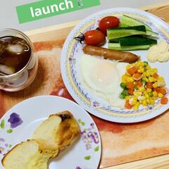 フランスパン/手作りパン/自家製天然酵母/launch 旦那様が夜勤明けなので 朝食兼launc…(1枚目)