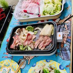 🍺ビール/野菜/肉/バーベキュー 今夜は外で焼肉パーティー🍻🥳🤣🙌🏻 自宅…(4枚目)