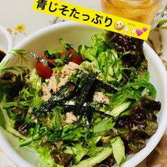 簡単ご飯🍚/寿司飯/シーチキン/たこ焼き🐙/夕食 今夜は、 寿司酢ご飯とシーチキンで 野菜…(2枚目)