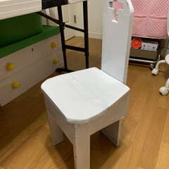 わたしの作業部屋/リメイク/椅子 昔 息子が、中学生の時に技術家庭で作った…(4枚目)