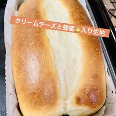 食パン🍞/蜂蜜🍯/クリームチーズ/自家製天然酵母/手作りパン/ライフスタイル/... 自家製天然酵母パン  蜂蜜🍯とクリームチ…(2枚目)
