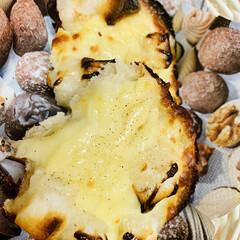 ピザ用チーズ/チーズトースト/お餅/パン/自家製天然酵母/グルメ お餅消費の為に  カンパーニュで餅入りチ…(4枚目)
