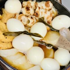 卵🥚/夕食/ストウブ鍋/大根/おでん🍢 めっちゃ大きな大根が¥89😅💦🖐🏻 さす…(2枚目)