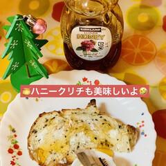 コストコ/商品紹介/朝食/🍯蜂蜜/クリームチーズ/カンパーニュ/... クリームチーズの食べきりサイズが めっち…(3枚目)