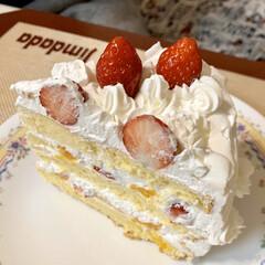 手作りケーキ/イチゴショートケーキ これぞ❣️ イチゴオンリー🎂🎂🎂(2枚目)